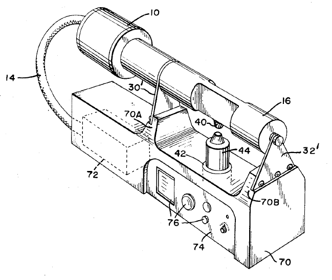 Lateral drive ultrasonic metal welding horn supported by two vertical members (Shoh patent 3,752,380)